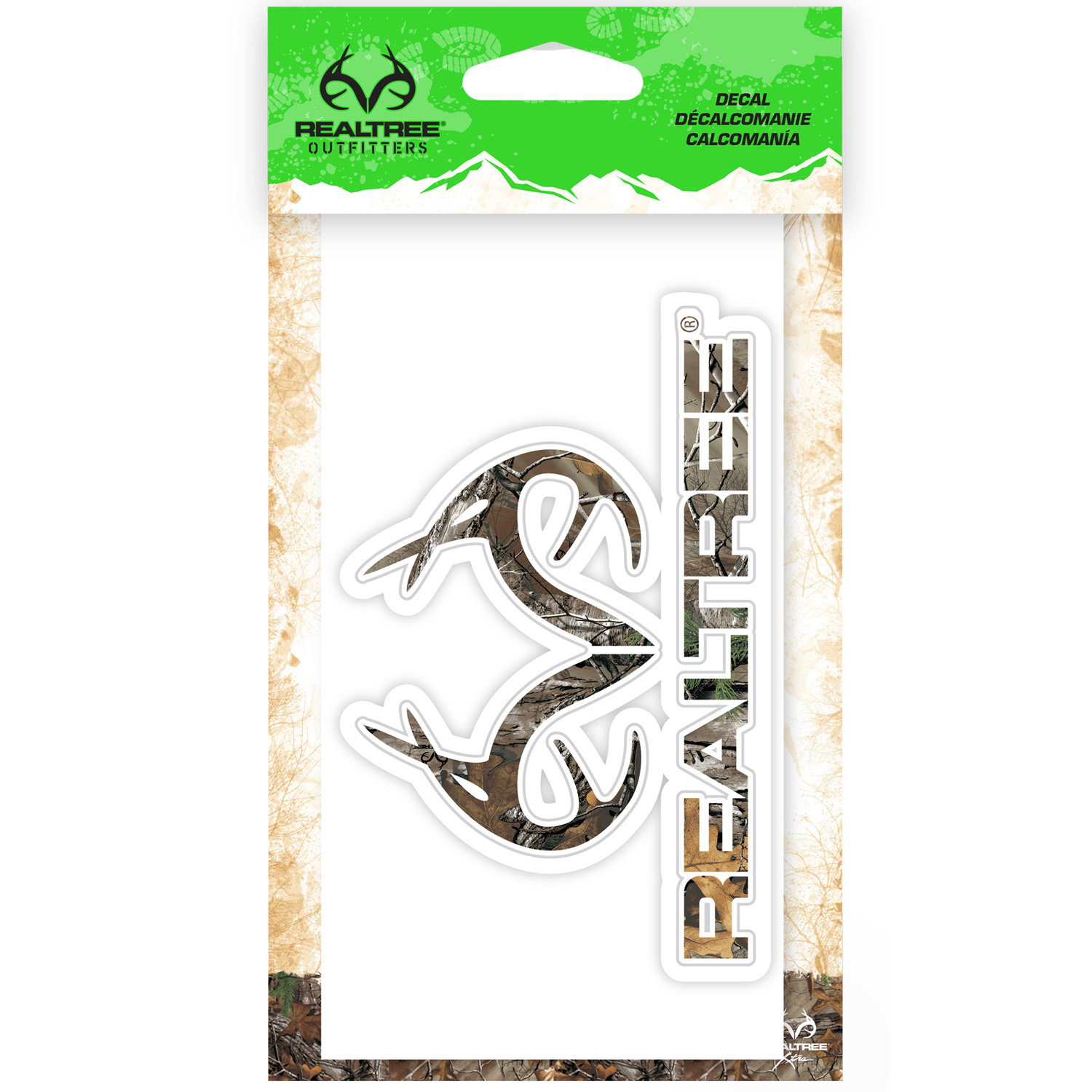 DECAL REAL TREE CAMO LOGO 6 IN