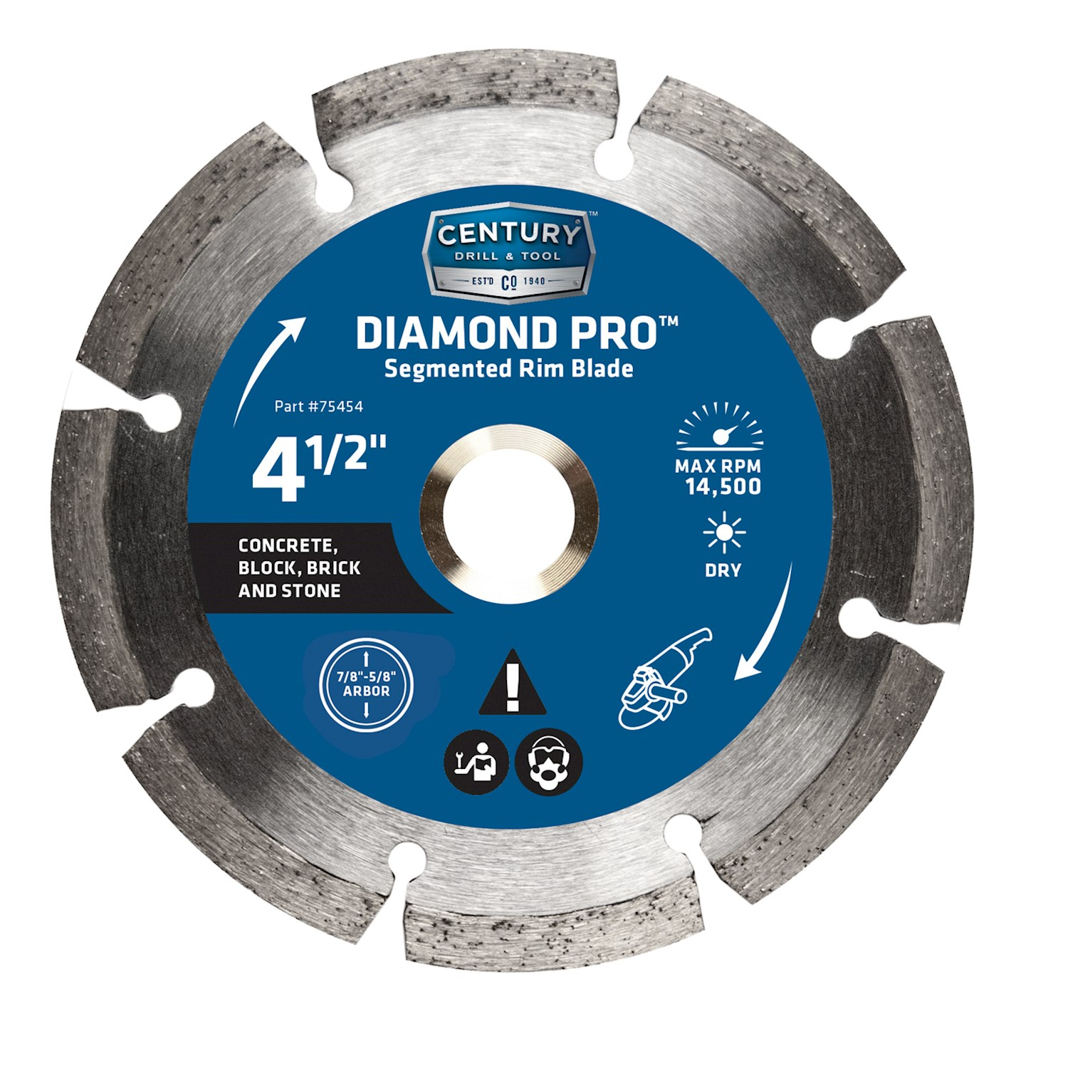 DIAMOND SAW BLADE SEG 4-1/2IN